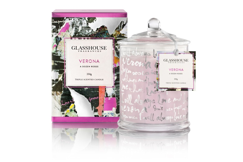 Glasshouse Fragrances Candle 350 Verona